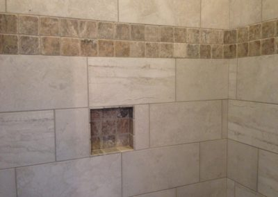 cleaning tile shower