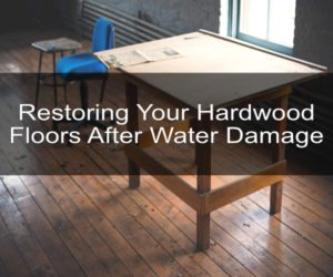 do you need water restoration services