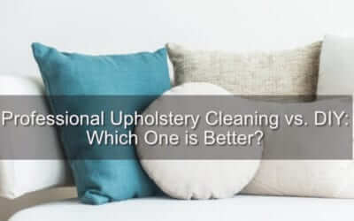 Professional Upholstery Cleaning vs. DIY: Which One is Better?