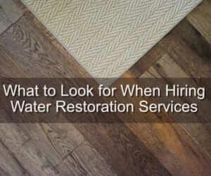 water restoartion