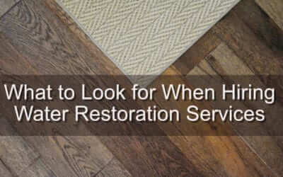 What to Look for When Hiring Water Restoration Services
